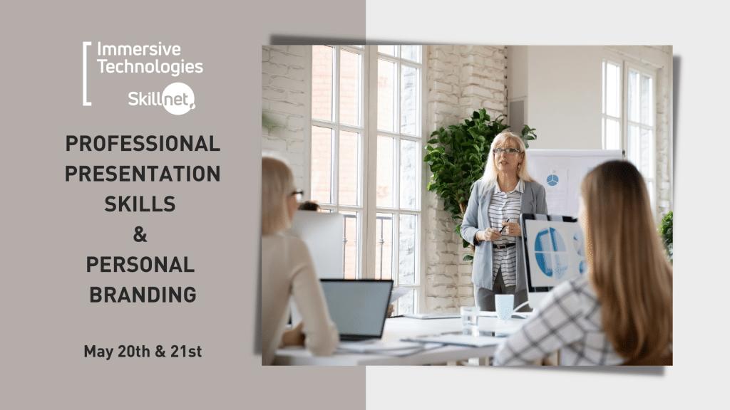 Immersive Technologies Skillnet Woman Presenting to room