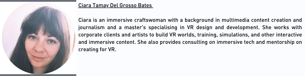 Immersive Technologies Skillnet Ciara Del Grosso Bio